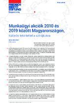 Munkaügyi akciók 2010 és 2019 között Magyarországon